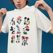 Camiseta para hombre con print retro de Mickey Mouse, Minnie Mouse y Goofy.